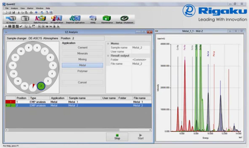 Based on the famous Rigaku easy-to-use flow bar interface, QuantEZ software walks the user through steps required to setup either an empirical or fundamental parameters application.